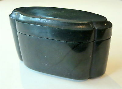 SPINACH Green Jade LOBED Box AND Cover VINTAGE