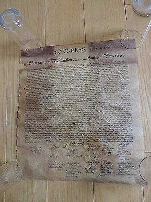 Founding Fathers Declaration of Independence parchment reproduction FREE SHIPING