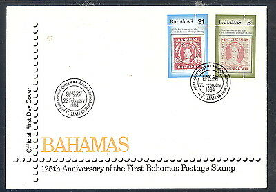 Bahamas FDC First Postage Stamp 125th Anniversary 1981