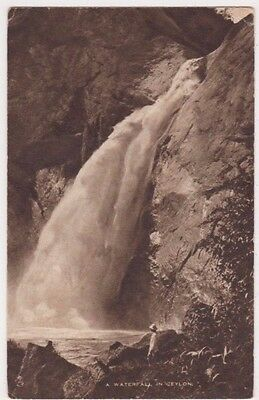A Waterfall in Ceylon, British Empire Exhibition Tuck Postcard with Stamp B747