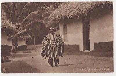 Sierra Leone Finished Product, Gown British Empire Exhibition Tuck Postcard B747