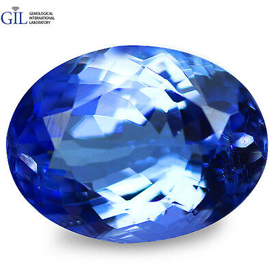 "2.98 CT Mind Blowing! ""GIL CERTIFIED"" 100% NATURAL AAA D'BLOCK BLUE TANZANITE"