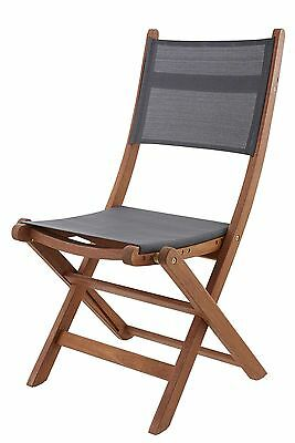 Kingsbury Mesh and Wood Folding Garden Chair - 2 Pack
