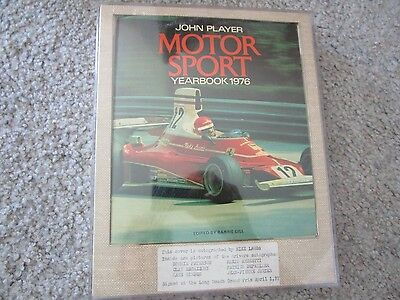 John Player Motor Sport Yearbook 1976 Signed Niki Lauda Andretti Regazzoni Etc