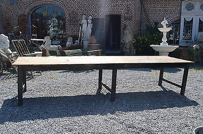 Table De Drapier En Pitchpin / Table Industrielle En Bois /  4 M De Long