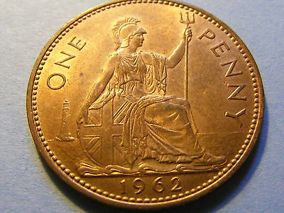 1962 Elizabeth II One Penny Coin  - Much lustre