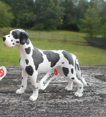 GREAT DANE AND PUP by Schleich; toy/dog/NEW 2010/RETIRED