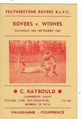 Featherstone Rovers v Widnes 1963/4
