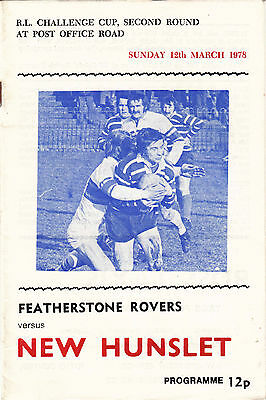 Featherstone Rovers v New Hunslet 1977/8