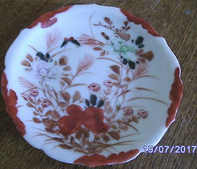 Vintage Japanese style hand painted saucer