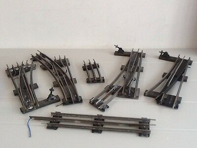 Vintage Hornby O Gauge 3 Rail Track Points Lot5