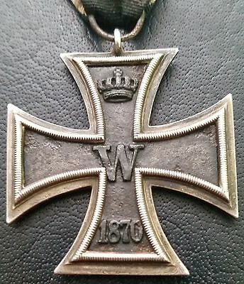 ✚7000✚ German Iron Cross II. Class 1870 medal WW1 3 PIECE CONSTRUCTION MAGNETIC