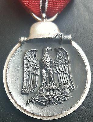 ✚7484✚ German Wehrmacht Eastern Front Medal Ostmedaille post WW2 1957 pattern