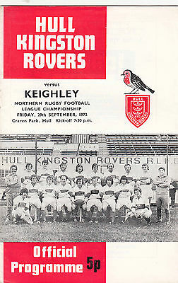 Hull Kingston Rovers v Keighley 1972/3