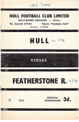 Hull FC v Featherstone Rovers 1962/3 (6 Apr)