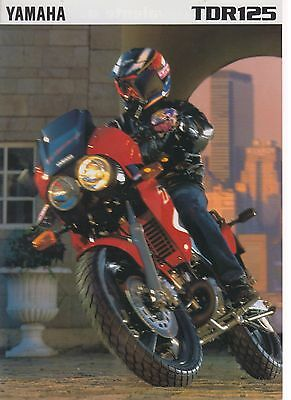 Yamaha  TDR 125   motorcycle brochure publicitaire