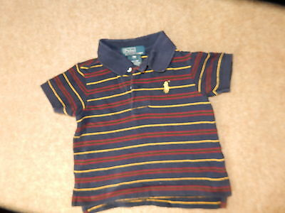 Baby Boys Designer Polo Shirt By Ralph Lauren Age 9 Months