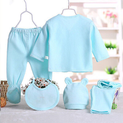 UK New Blue Baby Boy Girls Clothes Sets Newborn Sleepwear Pants 0-3 Month