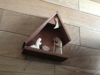 Wooden Nativity Scene
