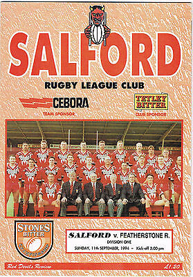 Salford v Featherstone Rovers 1994/5 (11 Sep)