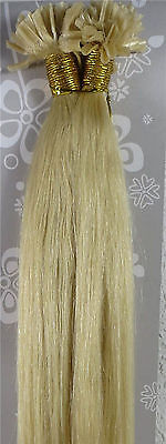 """New 22"""" Human Hair Extension Nail U-Tip Straight 100S 1g/S Light Blonde #613"""