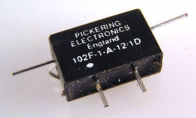 Pickering 102F-1-A-121D Flatpack Coaxial R.F. Reed Relay  Up To 3GHz OM341C