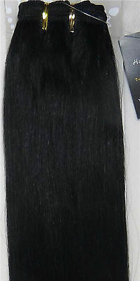 """New 20"""" Human Hair Extensions Weft Straight 100g Natural Black #1B"""
