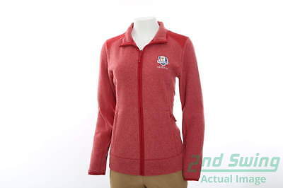 New Womens Cutter & Buck 2016 Ryder Cup Cedar Park FZ Jacket XLarge Red MSRP $85