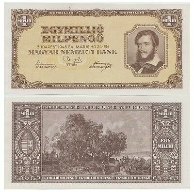 One Million Pengo Hungarian banknote issued in 24.05.1946 aunc