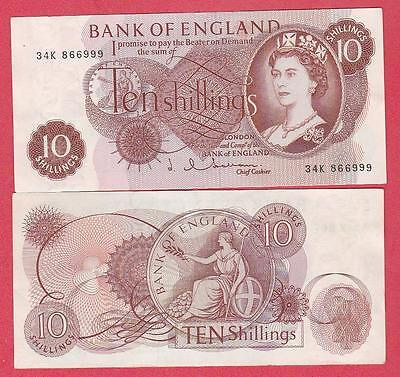 Km#373.b 1962/66 Great Britian 10 Shilling Note Unc