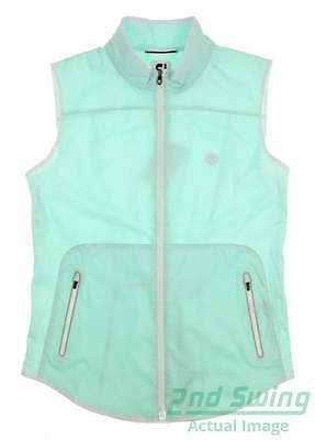 New W/ Logo Womens Footjoy Golf Softshell Vest Medium Green MSRP $135 24945