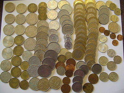 TURKEY Mixed Lot Coins 1 to 100,000 Lira  and 1 to 50 Kurus 122 Coins
