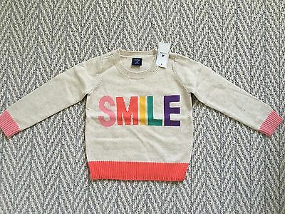 New NWT Baby gap smile color block sweater  2T