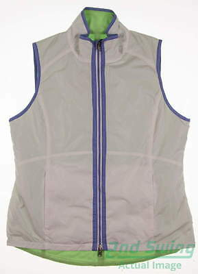 New Womens Zero Restriction Golf Reversible Vest Large L Multi MSRP $140