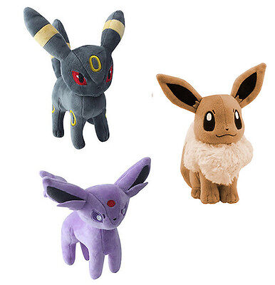 Pokemon Evolution Umbreon Espeon Eevee Plush Soft Doll Kids Toy Children gift