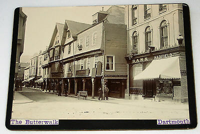 Early DARTMOUTH Devon STREET VIEW Cabinet Photograph RP