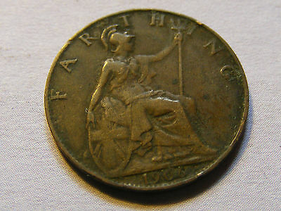 1906 Edward VII Farthing Coin  - Nice Condition