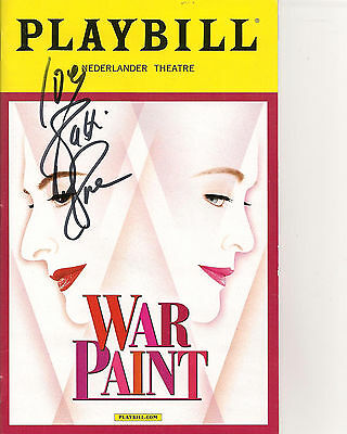 Patti Lupone `Red Paint` playbill Signed