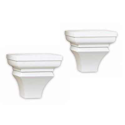 InPlace Shelving 0199150 Pair of Wall Sconces, 6.5-Inch, White Color
