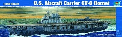 Trumpeter 1:350 USS CV8 Hornet Aircraft Carrier Plastic Model Kit TSM5601