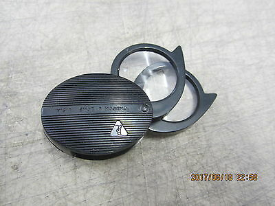 Bausch & Lomb Magnifier Folding Pocket Loupe 4x 5X 9X Coin Jewelry Stamp