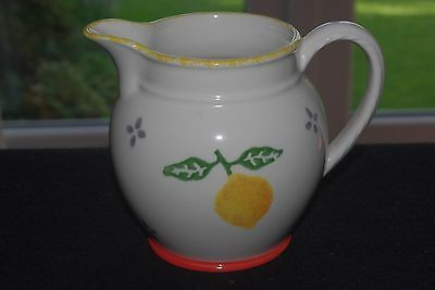 "Large Handpainted LAURA ASHLEY Jug ""Summer Fruits"" pattern"