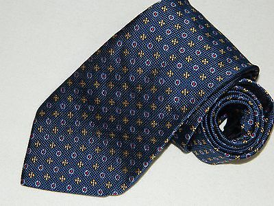 Men's Burberry Blue 100%Silk Neck tie Made in Italy