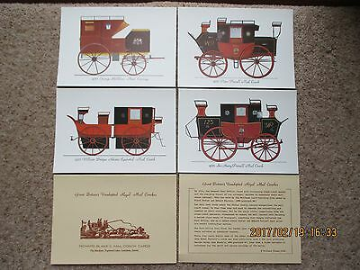Postcard Set Great Britains Unadopted Royal Mail Coaches By Richard Blake, Mint
