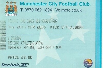 Ticket - Manchester City Reserves v Everton Reserves 28.03.06
