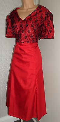 Gorgeous Ladies Party Cocktail Red Black Dress Size 16/18?