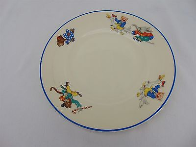 Vintage O.P. CO Syracuse Transportation China Plate Circus Animals Roller Skate