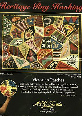 Heritage Rug Hooking Kit Victorian Patches