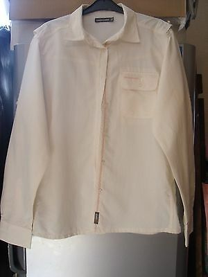 Ladies Craghoppers Long Sleeve Insect Repellent Fabric Cream Walking Shirt Uk18