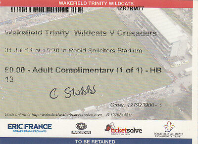 Ticket - Wakefield Trinity Wildcats v Crusaders 31.07.2011